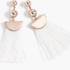 J crew Gold Tassel earrings